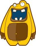 Criatura divertida de la historieta - garabato emocional del monstruo Foto de archivo libre de regalías