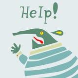 A criatura do homem de negócios precisa a ajuda Ilustração do Vetor