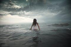Criatura en el mar Fotos de archivo