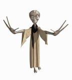 Criatura estrangeira cinzenta Fotografia de Stock Royalty Free