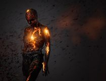 Criatura feita da lava imagens de stock royalty free