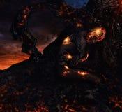 Criatura feita da lava foto de stock