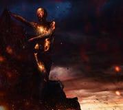 Criatura feita da lava imagem de stock