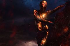 Criatura feita da lava foto de stock royalty free