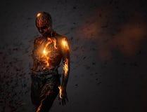 Criatura hecha de la lava imágenes de archivo libres de regalías