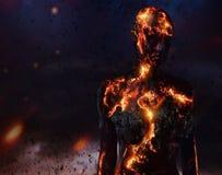 Criatura hecha de la lava Imagen de archivo