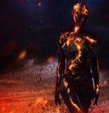 Criatura hecha de la lava imagenes de archivo