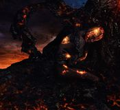 Criatura hecha de la lava foto de archivo