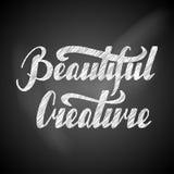 Criatura hermosa escrita mano de las letras retras Fotos de archivo