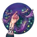 Criatura mágica encontrada na floresta ilustração royalty free