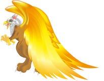 Criatura mitológica del vuelo del griego clásico ilustración del vector