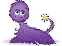 Criatura peluda púrpura Fotos de archivo libres de regalías