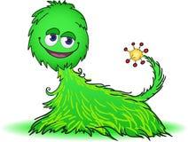 Criatura peludo verde Foto de Stock Royalty Free