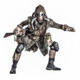 Criatura sujo do mutante do mundo nuclear do apocalipse imagem de stock