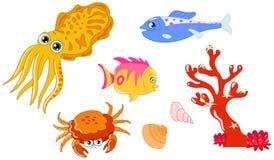 Criaturas 2 do mar Fotos de Stock Royalty Free