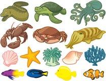 Criaturas del mar Imágenes de archivo libres de regalías