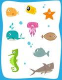 Criaturas do mar ilustração royalty free