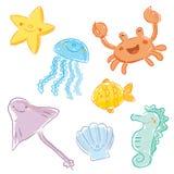Criaturas do mar Imagens de Stock
