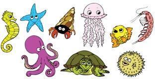 Criaturas do mar Fotos de Stock