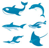 Criaturas do oceano ilustração royalty free