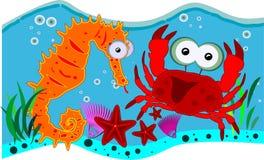 Criaturas do oceano ilustração do vetor