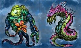 Criaturas estrangeiras Imagens de Stock Royalty Free