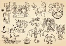 Criaturas míticas Imagen de archivo libre de regalías
