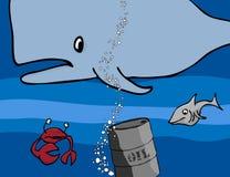 Criaturas modernas do mar do dia ilustração stock
