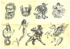 Criaturas Mystical Foto de Stock Royalty Free