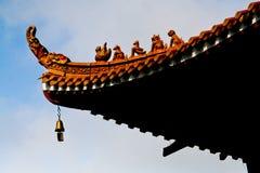Guardiães budistas do telhado Foto de Stock Royalty Free