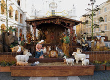 Crib. Traditional christmas crib in Italy Stock Photography