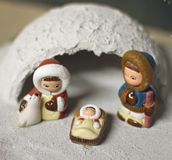 Crib in Eskimo of North Pole version 2 Stock Image