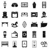 Crib icons set, simple style Royalty Free Stock Photos