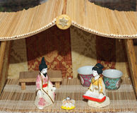 Crib in Japanese version in the typical house stock photography