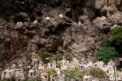 Crib Praiano Amalfi. Artistic nativity scene in Praiano Amalfi Stock Images