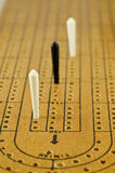Cribbage. Close up of cribbage board Royalty Free Stock Images