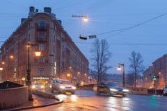 Criboedov-Kanalbrücke St Petersburg Stockfoto