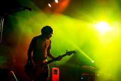 The Cribs band in concert at FIB Festival. BENICASSIM, SPAIN - JUL 19: The Cribs band in concert at FIB Festival on July 19, 2015 in Benicassim, Spain Stock Photography