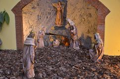 Cribs exposure Postua Vc. Italy. Postua December 2016 - Italy; Also this year it held the new edition of the exhibition of nativity scenes Postua. Postua is a royalty free stock photography