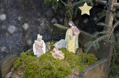 Cribs exposure Postua Vc. Italy. Postua December 2016 - Italy; Also this year it held the new edition of the exhibition of nativity scenes Postua. Postua is a Royalty Free Stock Photo