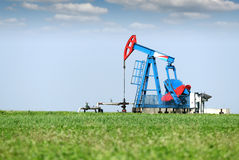 Cric de pompe à huile Image libre de droits