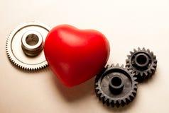 Cricchi e cuore meccanici Fotografia Stock Libera da Diritti