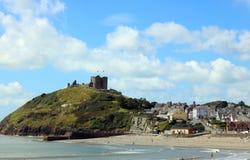 Criccieth城堡,北部威尔士 免版税库存照片