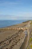 Criccieth海滩威尔士英国 库存图片