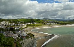 Criccieth Bay Stock Photography