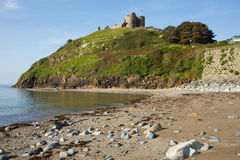 Criccieth beach Wales UK Royalty Free Stock Photo