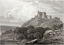 Criccieth Castle Stock Photo