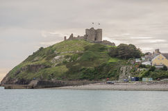 Criccieth Castle in North Wales Stock Photos