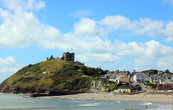 Criccieth castle, North Wales. Royalty Free Stock Photo