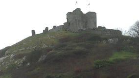Criccieth Castle, Wales stock video